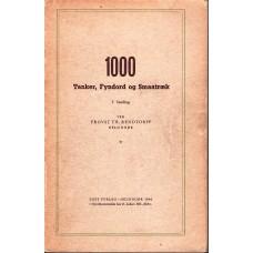 1000 tanker, fyndord og småtræk