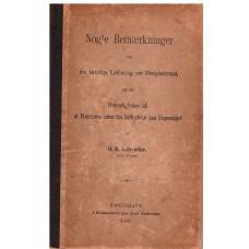 Nogle bemærkninger om det kirkelige lovforslag om menighedsråd